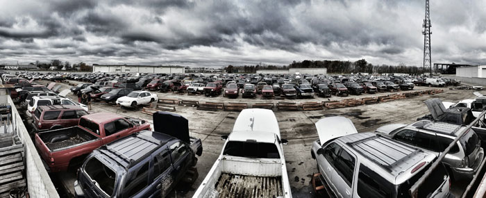 The salvage yard at U-Part-It